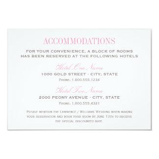 Wedding Accommodation Card | Pink and Gray 9 Cm X 13 Cm Invitation Card