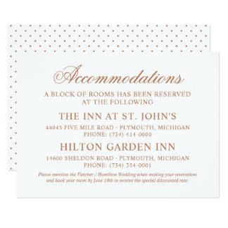 Wedding Accommodations | Copper Classic Elegance Card