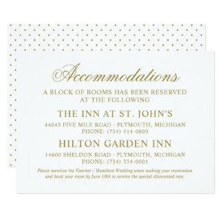 Wedding Accommodations | Gold Classic Elegance Card