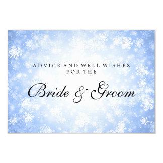 Wedding Advice Card Blue Winter Wonderland