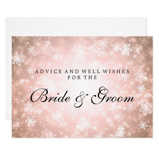 Wedding Advice Card Copper Winter Wonderland