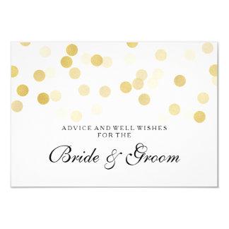 Wedding Advice Card Faux Gold Foil Glitter Lights 9 Cm X 13 Cm Invitation Card