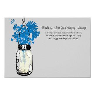 Wedding Advice Card - Mason Jar