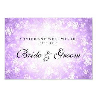 Wedding Advice Card Purple Winter Wonderland