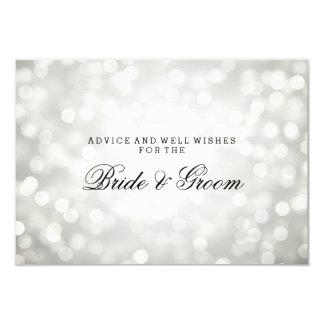 Wedding Advice Card Silver Glitter Lights 9 Cm X 13 Cm Invitation Card