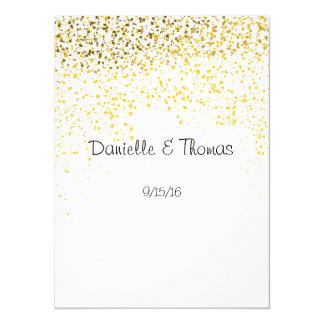 Wedding Advice, Elegant, Gold Confetti 14 Cm X 19 Cm Invitation Card