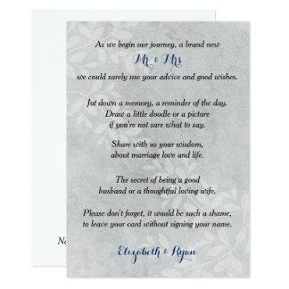Wedding Advice, Memories, Gray Floral Card