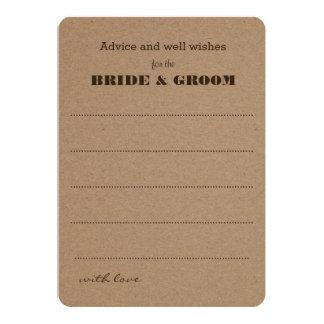 Wedding Advice    Rustic Kraft Paper Card