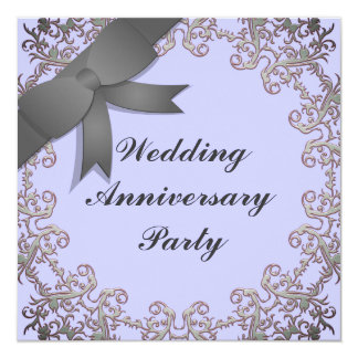 Wedding Anniversary 13 Cm X 13 Cm Square Invitation Card