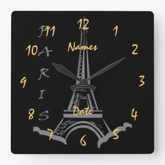 Wedding  Anniversary Engagement Customizable Square Wall Clock