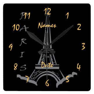 Wedding  Anniversary Engagement Customizable Wall Clock