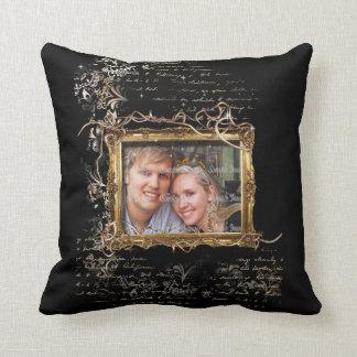 Wedding anniversary engagement photo throw pillow
