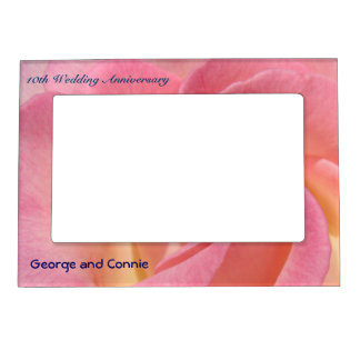 Wedding Anniversary His & Her Name photo frames Frame Magnet
