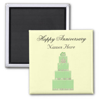 Wedding Anniversary Memento Square Magnet