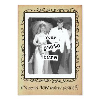 Wedding Anniversary Party Custom Card