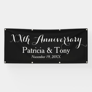 Wedding Anniversary Personalized Banner