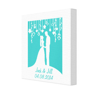 Wedding Anniversary personalized names & date Canvas Print