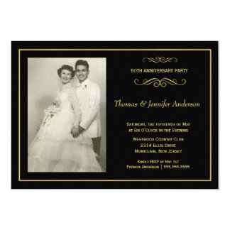 Wedding Anniversary Photo Invitations - 50th