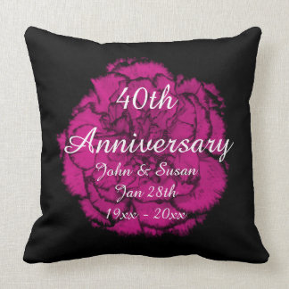 Wedding Anniversary Rose Pillow