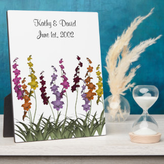 Wedding Assorted Flowers Display Plaques