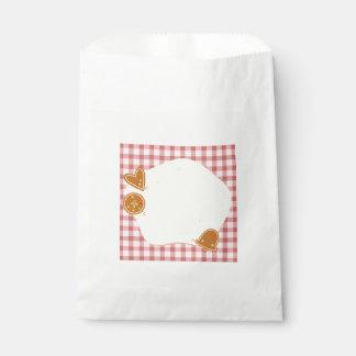 Wedding : bakery theme favour bags