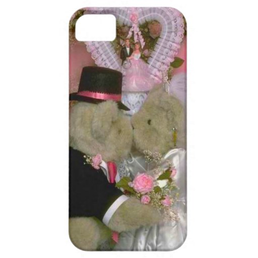 Wedding bears under a heart iPhone 5 cover