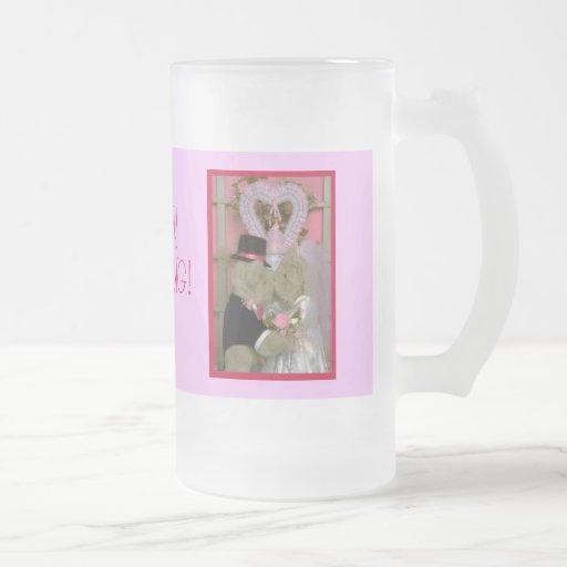 Wedding bears under a heart coffee mug