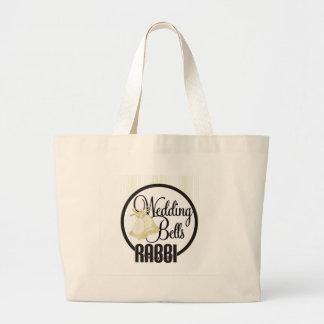 Wedding Bells Rabbi Large Tote Bag