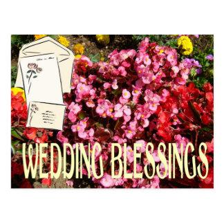 Wedding blassings, cards and envelopes postcard