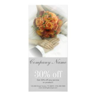 wedding bouquets wedding planner business custom rack cards