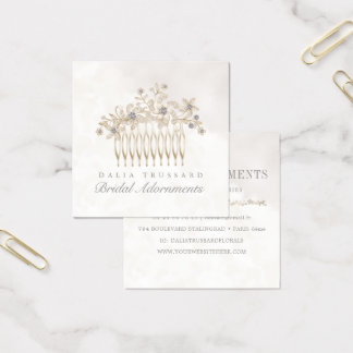 Wedding Bridal Hair Comb Accessories Jewellery Square Business Card