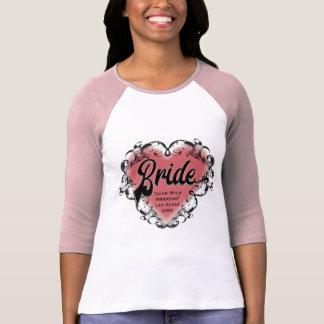 Wedding Bride Vintage Heart Tattoo T-Shirt