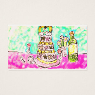 wedding cake business card