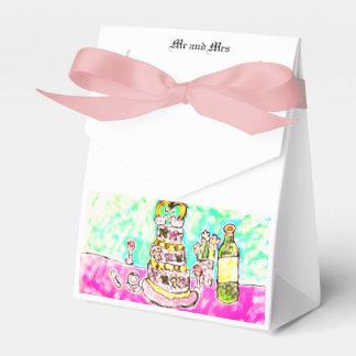 wedding cake favour box