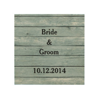 Wedding Canvas Bride and Groom with Wedding Date Wood Wall Decor