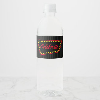 Wedding Celebration Party Water Bottle Stickers