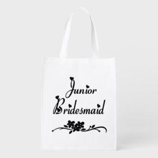 Wedding Classic Junior Bridesmaid Reusable Grocery Bag