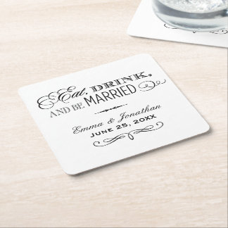 Wedding Coasters | Eat, Drink and Be Married