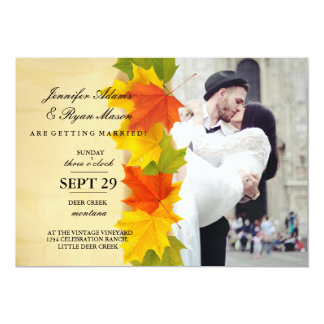 wedding couple kissing in street happiness/fall card
