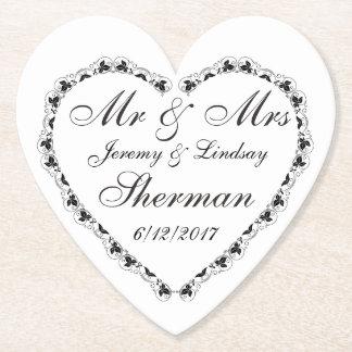Wedding Couple Personalized Custom Paper Coaster