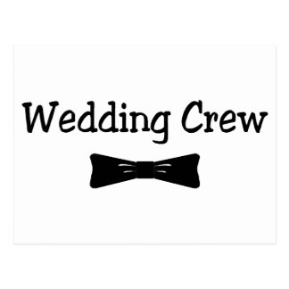Wedding Crew Bowtie Postcards