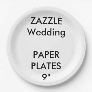 """Wedding Custom Disposable Party Paper Plates 9"""""""