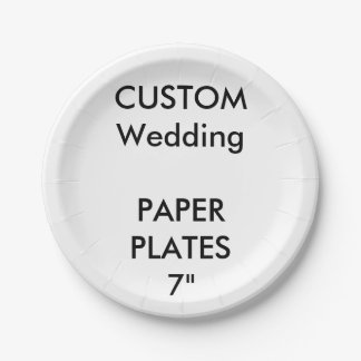 "Wedding Custom Paper Cake Plates 7"" 7 Inch Paper Plate"