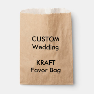 Wedding Custom Paper Favor Bag KRAFT Favour Bags