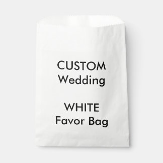 Wedding Custom Paper Favor Bag WHITE Favour Bags