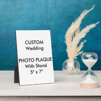"""Wedding Custom Photo Plaque 5"""" x 7"""""""