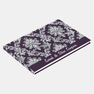 Wedding Damask Custom Guest Book
