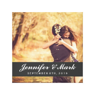 Wedding Date Canvas | Couple Photo