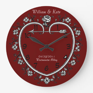 wedding date commemorative gift clock customizable