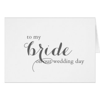 Wedding Day Card for Bride